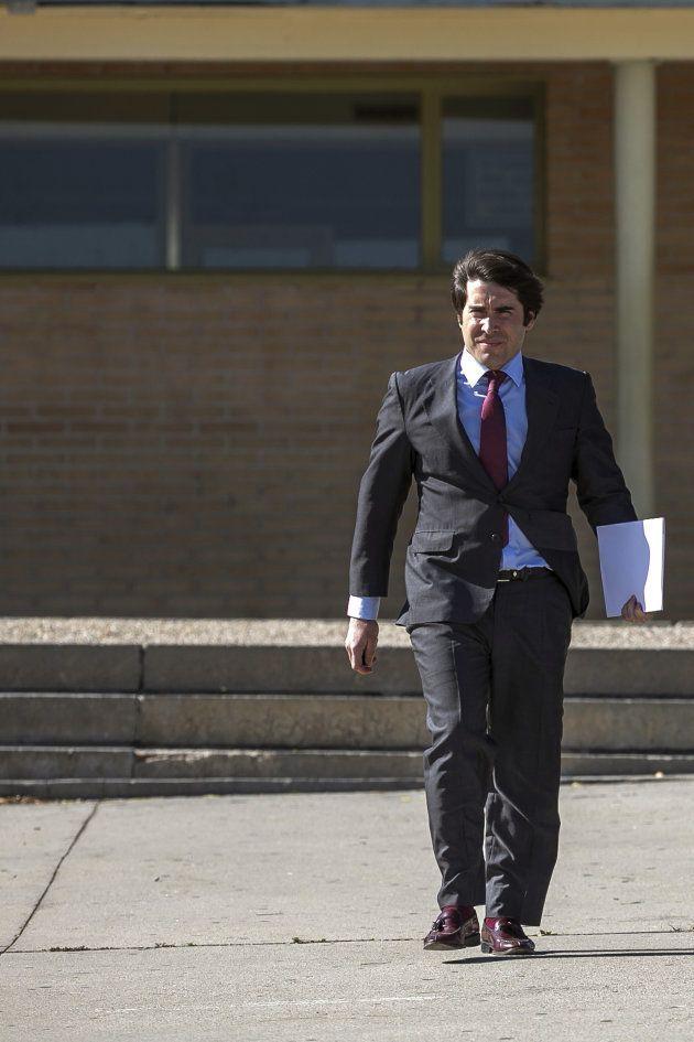 Gabriel Rodríguez Ramos, abogado de Gorka Villar, sale de la prisión, en la tarde de