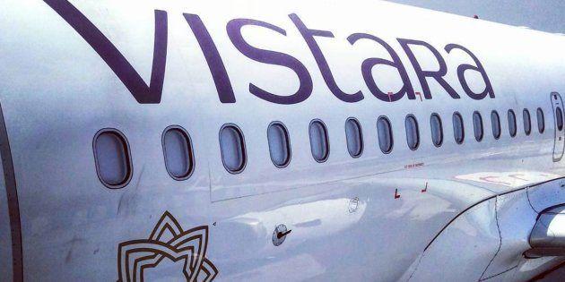 Imagen corporativa de Vistara, la aerolínea