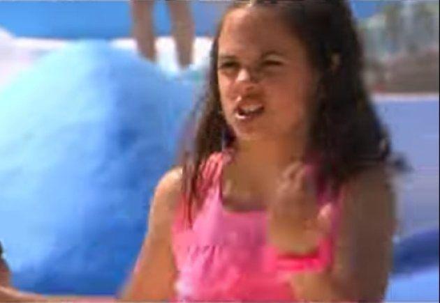 María Jesús López en un videoclip de