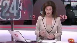 Beatriz Pérez Aranda la vuelve a liar en directo en el 'Canal 24 Horas' de