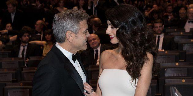 George Clooney y Amal Alamuddin, el pasado febrero en París, en la gala de los Premios César del cine