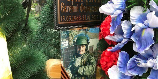 Retrato del contratista privadoYevgeni Chuprunov en su tumba, situada en Novomoskovsk (región de Tula,...
