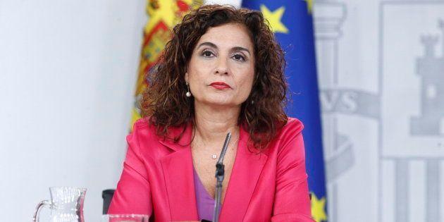 La ministra de Hacienda, María Jesús Montero, comparece en rueda de prensa tras la reunión del Consejo...