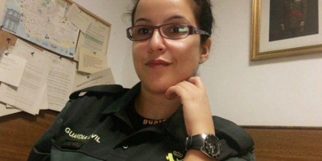 La guardia civil Luisa María Flores, en una foto difundida por la