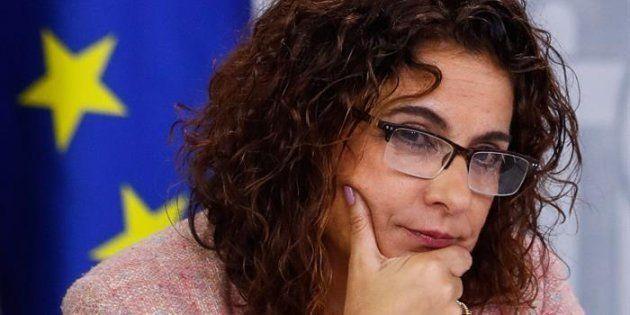 Las ministra de Hacienda María Jesús Montero, durante la rueda de prensa posterior al consejo de ministros...