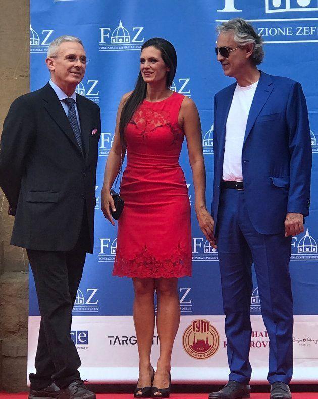Pippo Zeffirelli con Andrea Bocelli y su