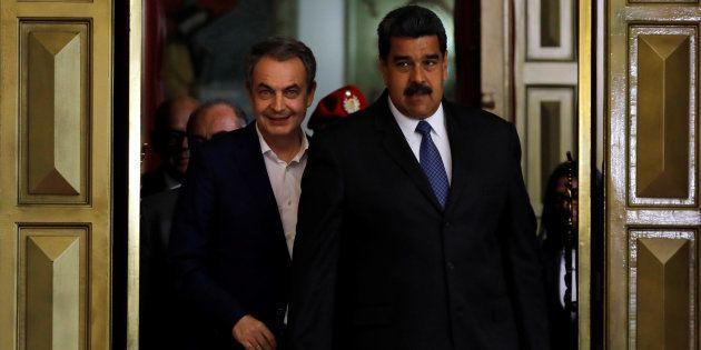 Imagen de Archivo de José Luis Rodríguez Zapatero y Nicolás Maduro durante un encuentro en