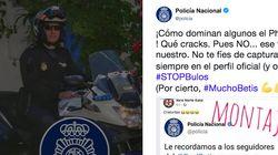 El tuit de la Policía Nacional sobre los aficionados del Betis que no te debes