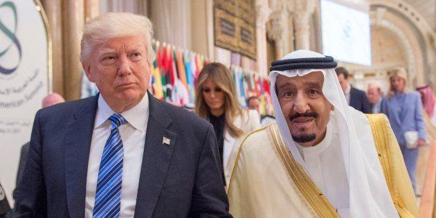 El presidente de EEUU, Donald Trump, y el rey Salman bin Abdulaziz Al Saud, reunidos en Riad el pasado
