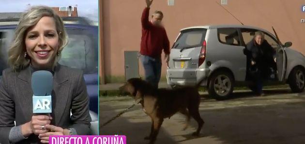 Los padres de 'El Chicle' expulsan con una manguera a una reportera y un cámara de Ana