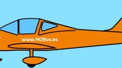 El avión de Hazte Oír es tan de atrezo como este dibujo: no tiene matrícula ni