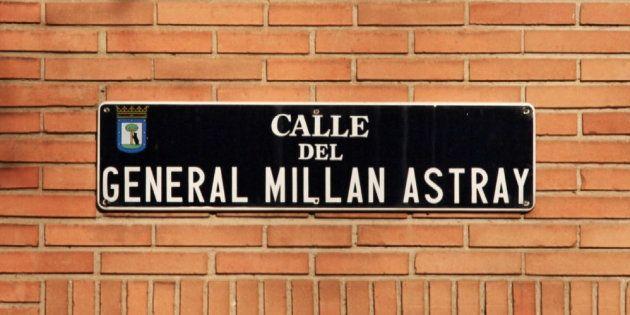 Paralizado el cambio de nombre de la calle del General Millán Astray en
