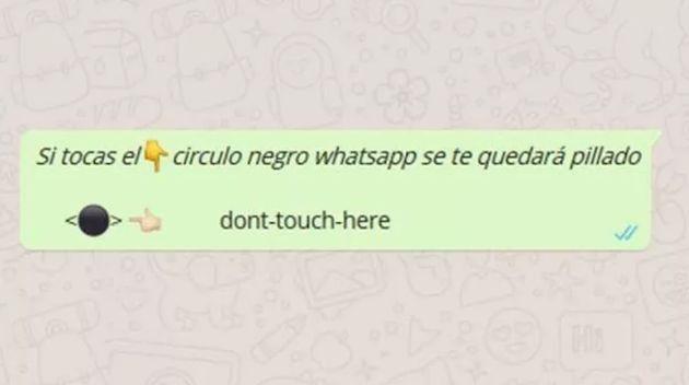 La última broma viral de WhatsApp: el círculo negro que no debes tocar bajo ningún