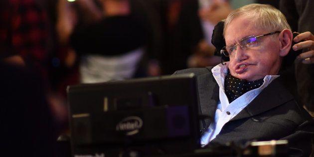 Stephen Hawking en un acto en Cambridge en noviembre de