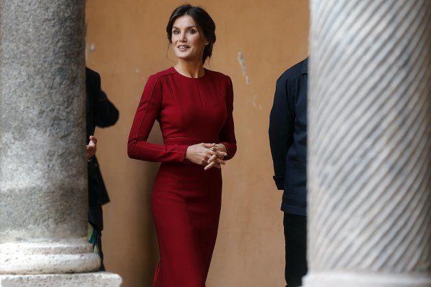 EPA9068. ROMA (ITALIA), 16/10/2018.- La reina Letizia visita la Real Academia de España en Roma, Italia,...