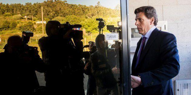 El padre de Diana Quer, Juan Carlos Quer, a su llegada al juzgado de