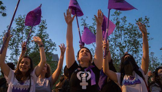 (FOTOS) La manifestación en contra la cultura de la violación por el caso de 'La
