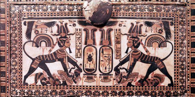 Detalle de un panel de la tumba de