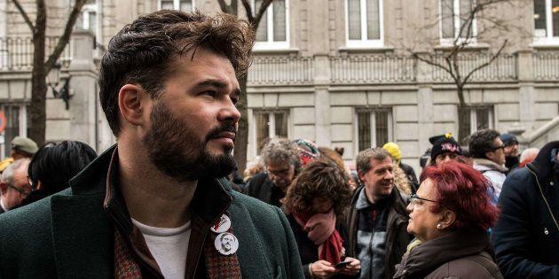Gabriel Ruffian, ante el Tribunal Supremo, pidiendo la liberación de los políticos independentistas