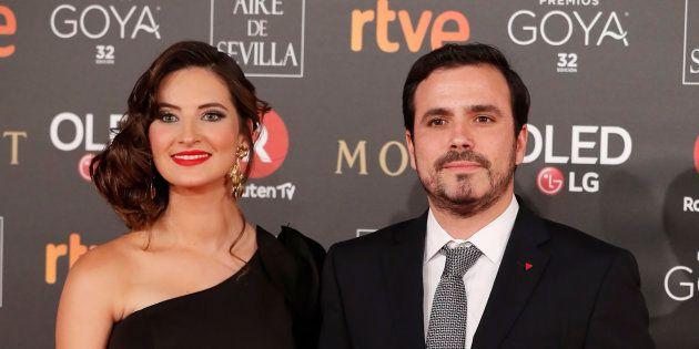 Anna Ruiz y Alberto Garzón, en los Premios Goya
