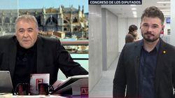 La respuesta de Iglesias a Rufián tras afearle su visita a Junqueras en la