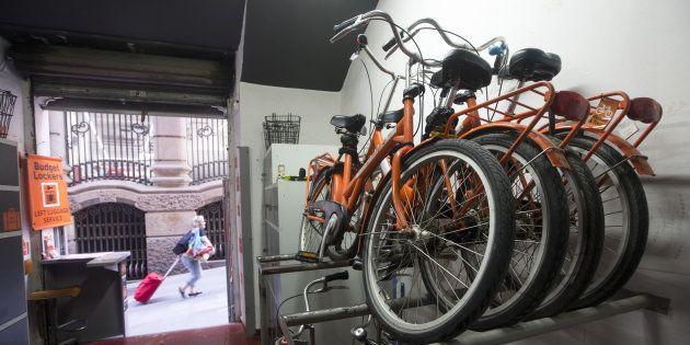 Negocio de alquiler de bicicletas del distrito de Ciutat