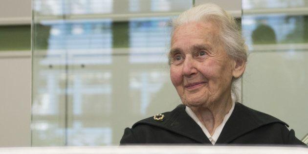 Ursula Haverbeck, el pasado octubre, durante el