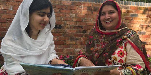 Malala y su madre,