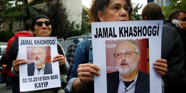Marcha por la búsqueda del periodista saudí