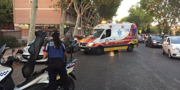 Un equipo de Emergencias Madrid, en una imagen de