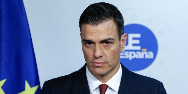 El presidente del Gobierno, Pedro Sánchez, en rueda de prensa en