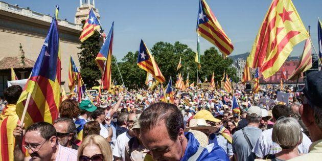 Manifestación celebrada el pasado junio en Barcelona en defensa del referendum por la independencia de