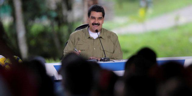 Nicolás Maduro, durante su intervención