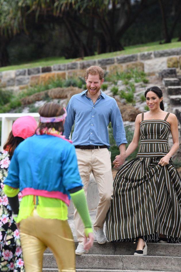 Visita de los duques de Sussex, el príncipe Enrique y su esposa Meghan, en Bondi Beach