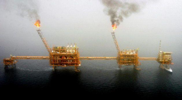 Plataformas petrolíferas iraníes al sur de