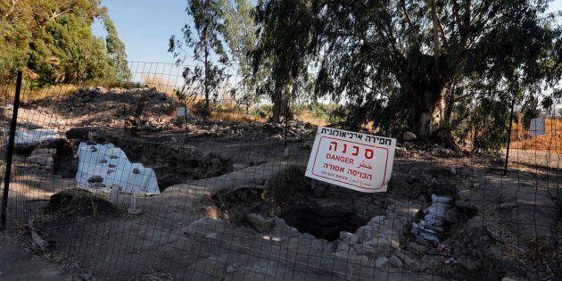 Vista de las excavaciones de la ciudad de Betsadia