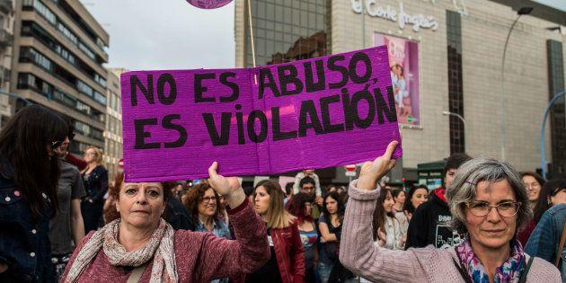 Manifestación en Alicante contra la sentencia de La Manada, el pasado 28 de