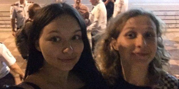 Olga Borisova y María Aliójina, en el 'selfie' que se tomaron tras su