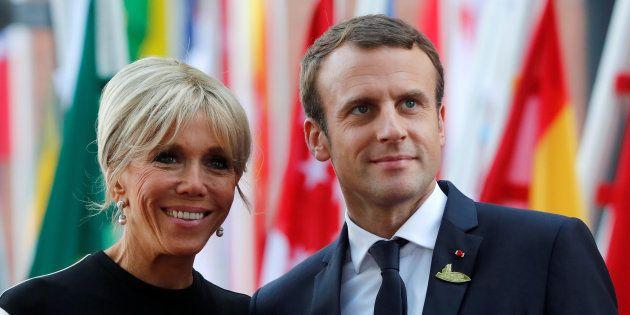 Emmanuel Macron y su esposa Brigitte, durante la reunión del G20 celebrada en Hamburgo (Alemania) el...