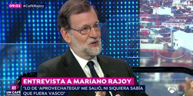 Mariano Rajoy, durante la entrevista con Susanna