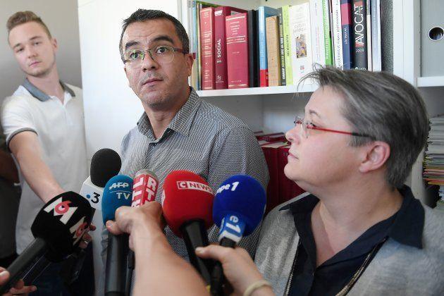 Mohamed Aachour y Nicole Radius, los abogados de la joven, en una