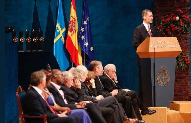 El rey Felipe VI y todos los galardonados en los Premios Princesa de Asturias