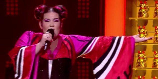 La aparatosa caída de la representante de Israel en Eurovisión