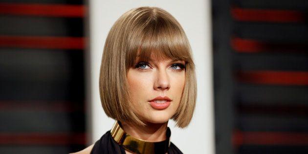 Taylor Swift en la fiesta de los Oscar organizada por la revista 'Vanity Fair' en febrero de