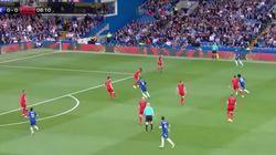 El genial efecto óptico que se produjo en el último partido del