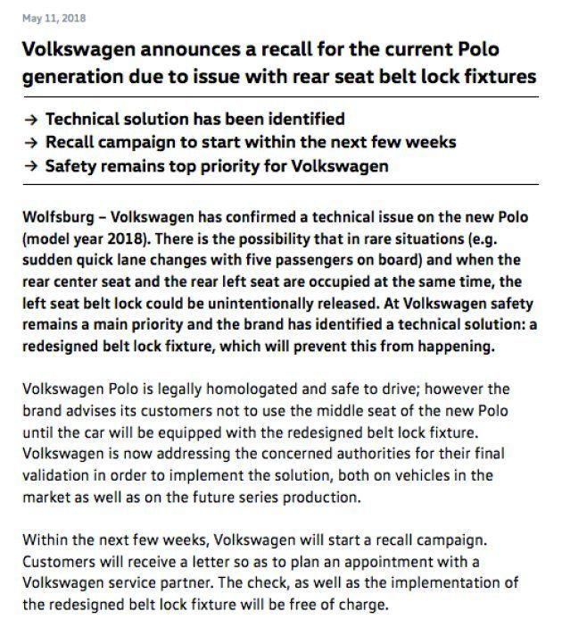 Seat y Volkswagen llaman a revisión a 410.000