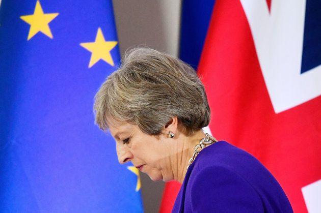 Imagen de archivo de la primera ministra británica, Theresa
