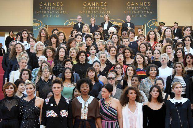 82 mujeres del cine exigen igualdad salarial en la alfombra roja de