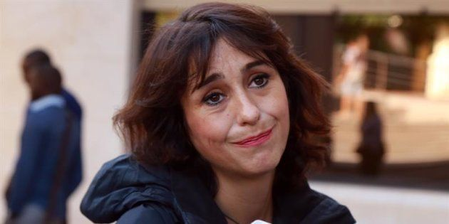 Juana Rivas, a su llegada al juzgado de lo Penal 1 de Granada, en una imagen de