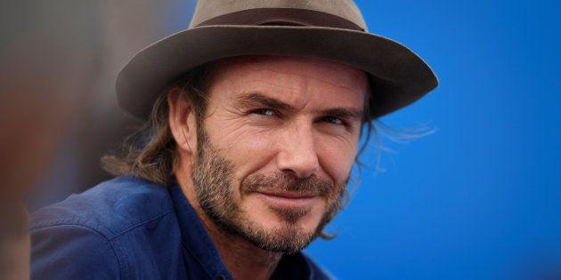 David Beckham en un partido de tenis en junio de